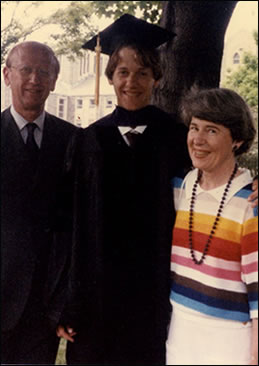 Donald and Kathleen attend Scot's graduation from Villanova Law School in 1986.